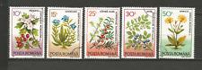 1993 plantes médicinales Roumanie 4 timbres anciens oblitérés /T4344