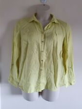Ladies Green/Yellow Collared Neck Long Sleeve Shirt From Gerry Weber Size 18