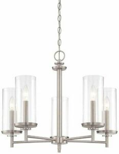 Hampton Bay 5-Light Brushed Nickel Finish Interior Chandelier