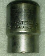 "MATCO TOOLS D362 1-1/8"" SAE 12 POINT 3/4"" DRIVE SOCKET USA"
