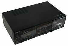 VTG SONY Stereo DUAL CASSETTE DECK Tape Player TC-WR950 Made In Japan