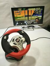 Carl Edwards Racing Steering Wheel video game plug into any RCA ports & works!