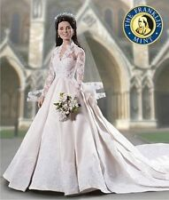 Franklin Mint Portrait Doll, Kate Middleton Wedding- Bride Doll, New in Box RARE