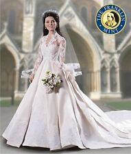 Franklin Mint Portrait Doll, Kate Middleton Wedding- Bride Doll, New in Box RARE