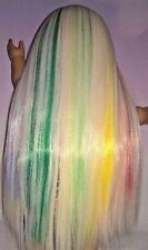 "Custom Doll Wig for American Girl Dolls 10-11"" ""Follow The Rainbow"" HEAT SAFE  3"