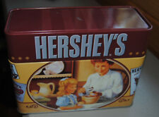 Hershey's Recipe Tin Storage Box Includes Recipes for Cookies, Cakes, Treats +