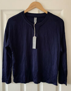 G STAR NAVY BLUE JERSEY TOP S SMALL NEW