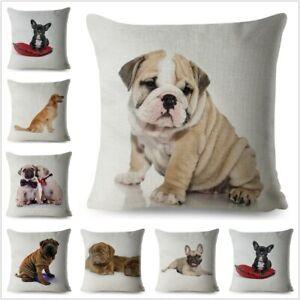 French Bulldog Dog Pillow Case Dog Cushion Cover Sofa Home Print Animal Throw