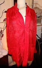 GREAT Reversible SIMO Silk Oriental Black & Red Jacket sz 4X Plus
