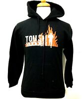 TOUGH MUDDER FIRE FLAME ATHLETIC GEAR Pullover HOODIE SWEATER BLACK APPAREL T73