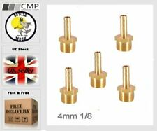 """1/4"""" BSP Brass Taper Male Thread ×4mm Barbed Hose Tail, Air,Water   UK SELLER 41"""