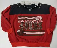 XL Vintage San Francisco 49ers Drawstring Zip Up Long Sleeve Rugby Shirt NFL