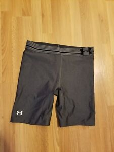UNDER ARMOUR COMPRESSION SHORTS MEN'S SIZE SMALL GRAY
