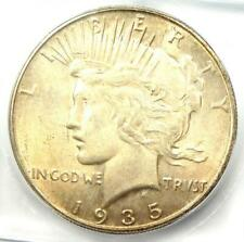 1935-S Peace Silver Dollar $1 - ICG MS62 - Rare Certified Coin - $338 Value!