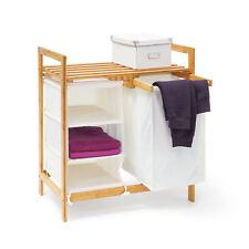 Panier à linge LINEA coffre pliable en bambou Corbeille lessive salle bain
