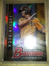 AUSTIN BECK 2017 Bowman Draft Chrome Defining Moments Refractor Auto #67/99 A'S