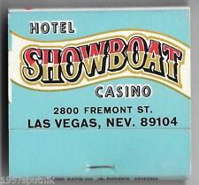 Showboat Hotel Casino & Bowling Center Since 1954 Las Vegas Nevada Matchbook SOB