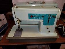 Singer Model 347 Zig-Zag Sewing Machine - Light Green - W/Case - Great Britan