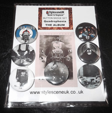 Quadrophenia : TheThe Album 25mm Button Badge SetThe Who  (Mod / Scooter)
