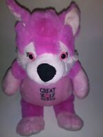 "Fiesta Great Wolf Lodge Pink Wolf  15"" Plush Stuffed Animal"