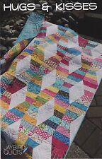 Hugs & Kisses, Jaybird Quilts, Quilt Pattern, 4 sizes, DIY Jellyroll Quilting