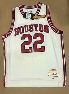 Clyde Drexler Signed UH Jersey PSA/DNA Houston Cougars J87604