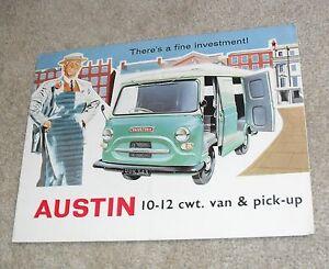 Austin 10-12 CWT Van & Pick Up Brochure 1960 UK Market