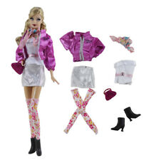 7in1 Set Fashion Coat+vest+skirt+socks+shoes+bag+scarf FOR 11.5in.Doll Clothes