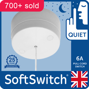 QUIET ACTION Pull Cord Switch For Toilet BathroomCeiling Light 25yr Guarantee