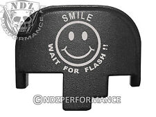 For Smith Wesson S&W M&P 9 40 45 Rear Slide Back Plate Blk Smile Wait Flash 5