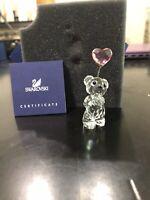 Swarovski Crystal Kris Bear I Love You w Pink Heart Balloon 0842933