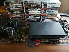 PS2 Fat Bundle Console, 50 Games, 2 Controllers  Cords memory cards tested