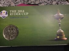 2014 Ryder cup medal and stamp cover