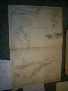 Vintage Admiralty Chart 942A INDONESIAN ISLANDS 1911 edn