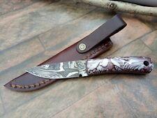 MH KNIVES CUSTOM HANDMADE DAMASCUS STEEL FULL TANG HUNTING/SKINNER KNIFE MH-365M