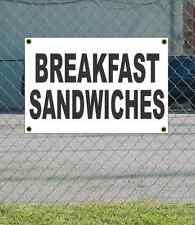 2x3 BREAKFAST SANDWICHES Black & White Banner Sign NEW Discount Size & Price