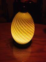 Studio Hand Blown Art Glass Mid Century Vase  LED Accent Deco Glow Base Lamp