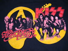 AEROSMITH KISS band t shirt men's XL CONCERT TOUR 2003 2004