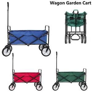 Pull-Along Folding Hand Cart Garden Wagon Trolley Festival Camping Bag  Cart