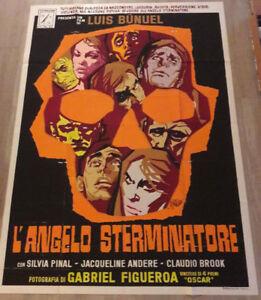 MANIFESTO ANGELO STERMINATORE LUIS BUNUEL SYMEONI 4F cult movie vintage poster