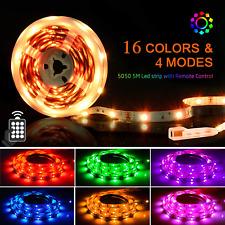 LED Strips Lights 5M, SHINELINE 16.4Ft RGB SMD 5050 Dimmer Colour Changing Kit