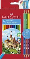 Faber-Castell Farbstifte Mit 3 Zweifarbig Bleistift + Schärfer - Packung 12