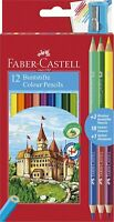 Faber-Castell Lápices de Colores Con 3 Lápiz + Sacapuntas - Paquete 12