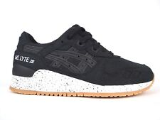 Asics Unisex Gel Lyte III H643N Black Lace Up Casual Trainers