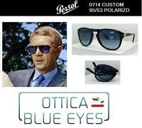 Occhiali da Sole Persol PE 0714 714 FOLDING Sunglasses Steve McQueen CUSTOM 95S3