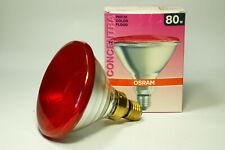 2 farbige Lampen: Osram 80 rot und Philips 60W grün