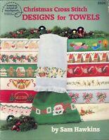 Christmas Towels Cross Stitch Pattern Booklet 1987 Hawkins ASN #3506