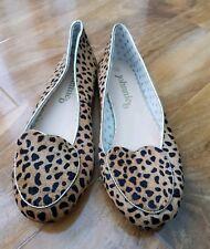 Boden Niñas Precioso Zapatos Bajos Zapatos Leopardo ponyskin Cuero EU 36 UK 3 Nuevo.