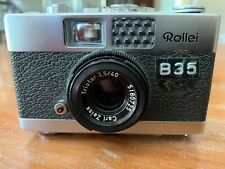 Rollei B35 Classic Titanium 35mm Rangefinder Film Camera With 40mm Zeiss Lens