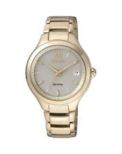 Citizen Business Analog Ladies Eco-drive Gold Watch Eo1163-57p